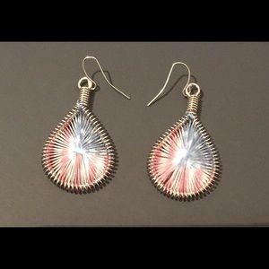 Jewelry - Peace US Flag  Pierced Earrings